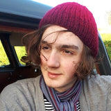 RA7 Beanie For Guys In Red Tones, By Rose Coen - Parade Handmade