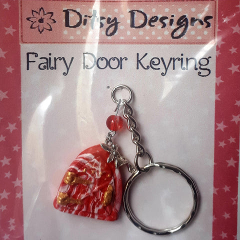 Red Fairy Door Keyring, By Ditsy Designs - Parade Handmade