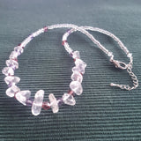 Rock Crystal & Glass Necklace and Earrings, By lapanda Designs - Parade Handmade