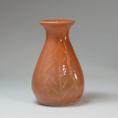 Rustic Little Orange Bud Vase, By Kurilla Pottery - Parade Handmade