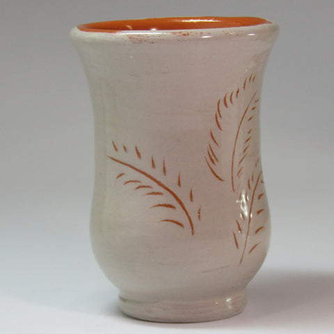 Rustic Mini Posey Vase in Beige and Terracotta, By Kurilla Pottery - Parade Handmade