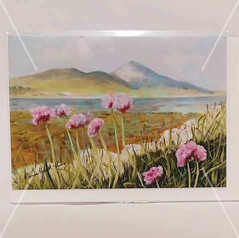 'Sea Thrift At Clew Bay', Art Card, By Nuala Brett-King - Parade Handmade