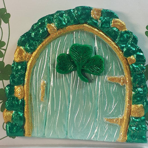 Shamrock Fairy Door in Green and Gold, By Ditsy Designs - Parade Handmade