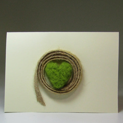Simple, Felted Heart Card, by Rubi - Parade Handmade