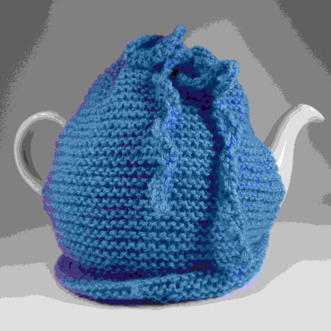 Simple, blue, light weight Tea Cosy, by Shoreline - Parade Handmade