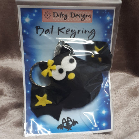 Spooky Bat Keyring, By Ditsy Designs - Parade Handmade