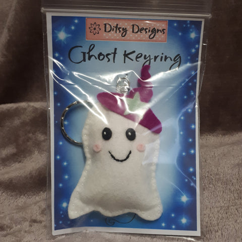 Spooky Ghost Keyring, By Ditsy Designs - Parade Handmade