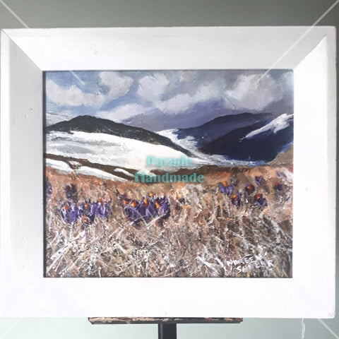 'Spring Crocuses', Original Framed Artwork, By Noreen Sadler - Parade Handmade