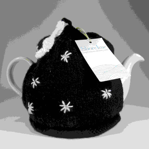 Starry Night, Black and White Tea Cosy, by Shoreline - Parade Handmade
