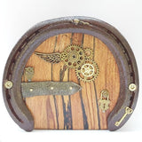Steampunk Fairy Door With Wing and Padlock Charm, By Liffey Forge - Parade Handmade