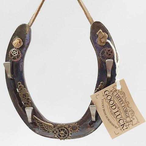 Steampunk Horseshoe Keyrack, By Liffey Forge - Parade Handmade