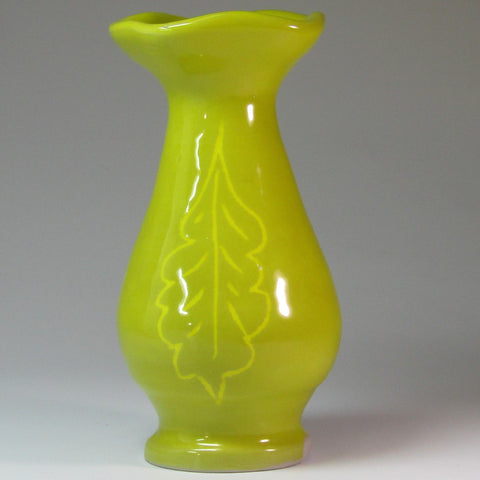 Striking Bud Vase in Mustard Yellow, By Kurilla Pottery - Parade Handmade