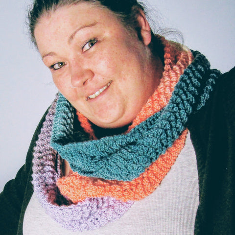 Stunning Crocheted, Multi-coloured Scarf, By Shoreline - Parade Handmade