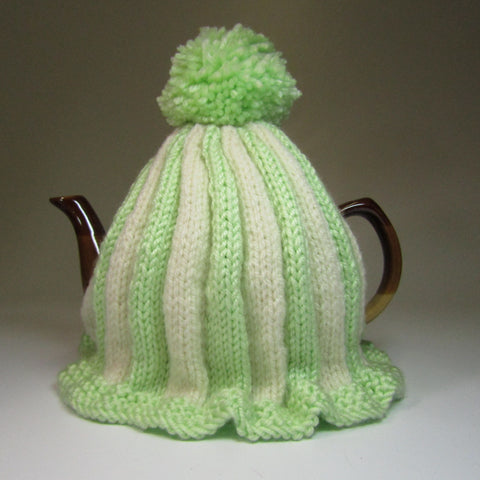 Super cute, pastel green and cream, Tea Cosy, by Shoreline. - Parade Handmade