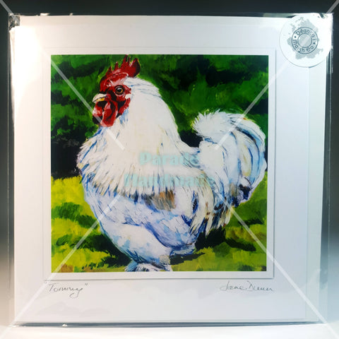 Tommy The Rooster Art Card, By Jane Dunn - Parade Handmade
