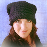 Trendy Versatile Navy Button-Down Hat, By Jo's Knits - Parade Handmade