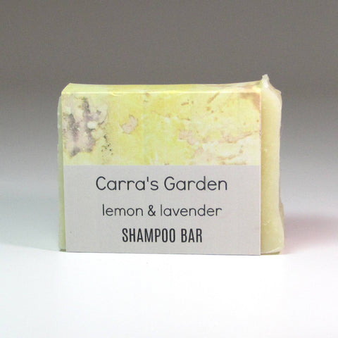 Vegan Shampoo Bar, Lemon and Lavender, No Palm Oil, By Carra's Garden - Parade Handmade