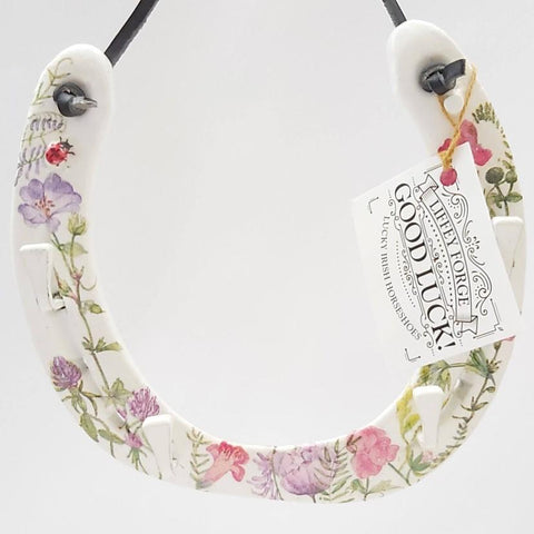 Wild Flower Recycled Horseshoe Keyrack, by Liffey Forge - Parade Handmade