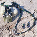 Wild Sea Seaweed Gemstone Pendant, By Lapanda Designs - Parade Handmade