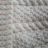 Wonderful Aran Handknit Hat In Cream, By Jo's Knits - Parade Handmade