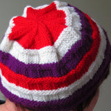 Wonderfully Colourful Stripey Hat, By Jo's Knits - Parade Handmade