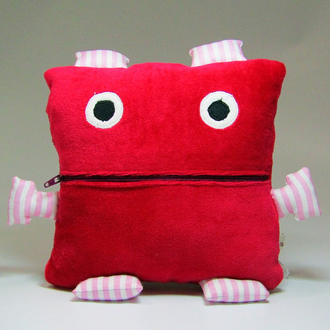 Worry Eater In Red, ''Eats'' Your Worries Away!, By JaDa Crafts Ireland - Parade Handmade