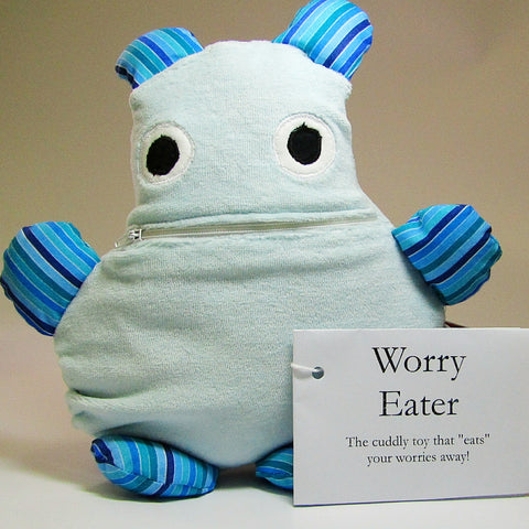 Worry Eater. Blue, ''Eats'' Your Worries Away!, By JaDa Crafts Ireland - Parade Handmade