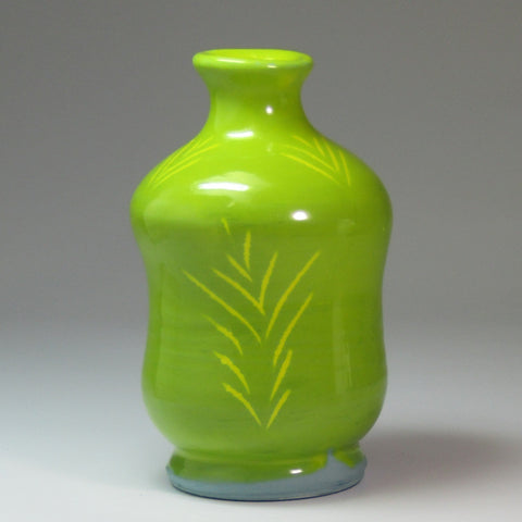 Zesty Little Bud Vase In Lime Green, By Kurilla Pottery - Parade Handmade
