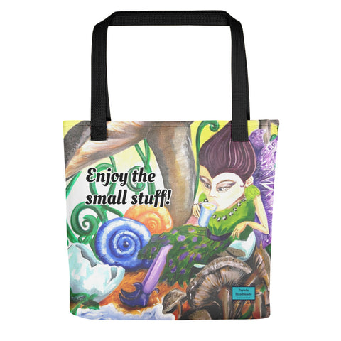 Tote bag - Enjoy The Small Stuff! By Parade - Parade Handmade West Of Ireland