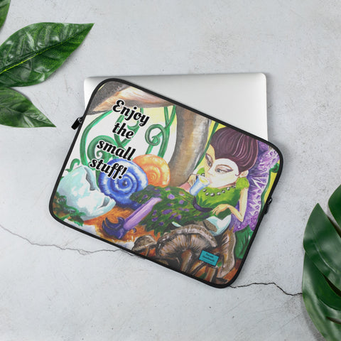 Laptop Sleeve 'Enjoy the small stuff' Design By Parade - Parade Handmade