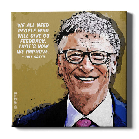 Bill Gates Canvas Print