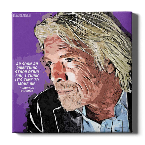 Richard Branson Canvas Print