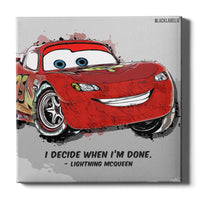 Lightning McQueen Canvas Print - Cars