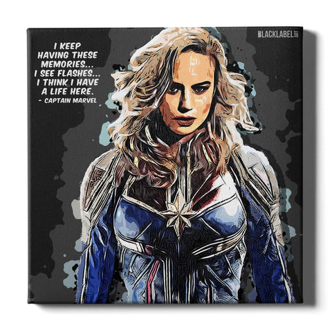Captain Marvel Canvas Print