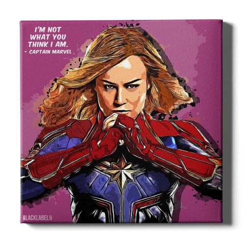 Captain Marvel Canvas Print - Marvel