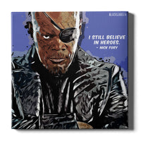 Nick Fury Canvas Print - Marvel