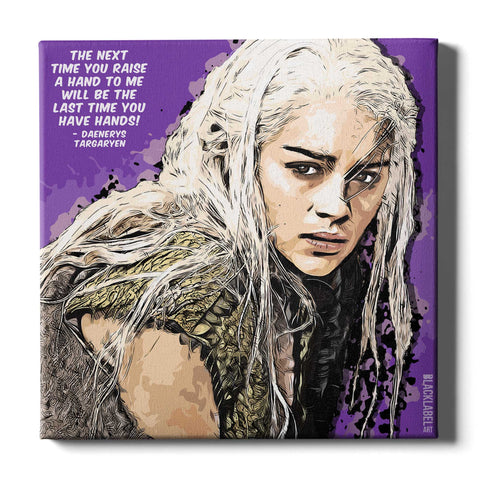 Daenerys Targaryen Canvas Print - Game of Thrones
