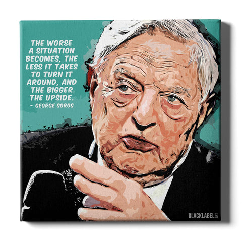 George Soros Canvas Print