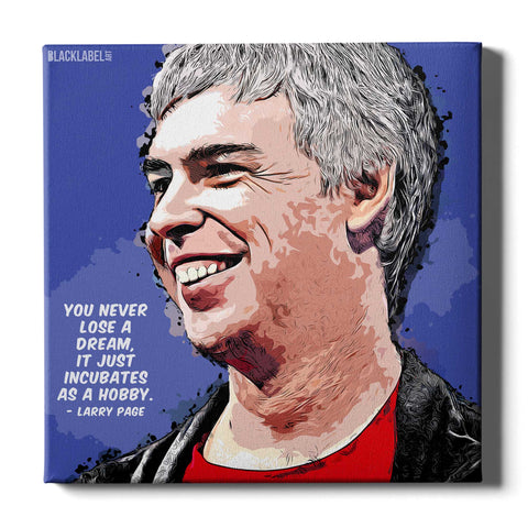 Larry Page Canvas Print