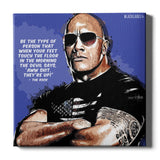 Dwayne Johnson (The Rock) Canvas Print
