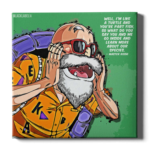 Master Roshi Canvas Print - Dragon Ball