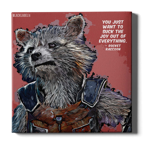 Rocket Raccoon Canvas Print - Guardians of the Galaxy