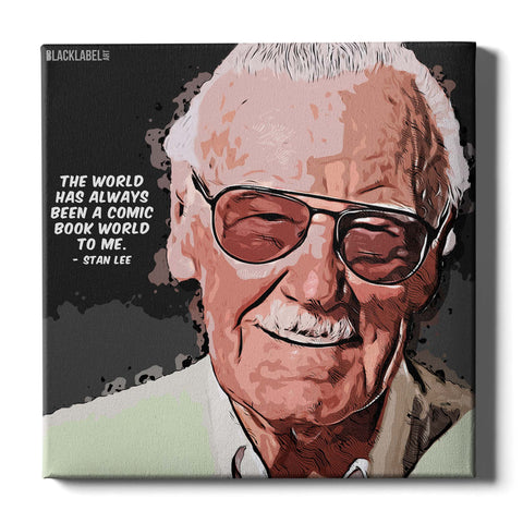 Stan Lee Canvas Print - Marvel