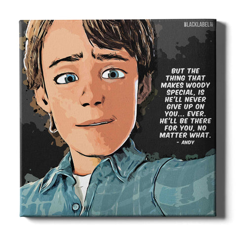 Andy Canvas Print - Toy Story