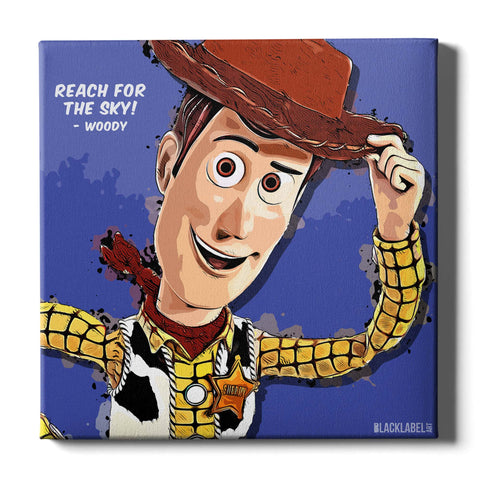 Woody Canvas Print - Toy Story