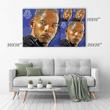 Will Smith Canvas Print - Dr. Robert Neville in movie I am Legend