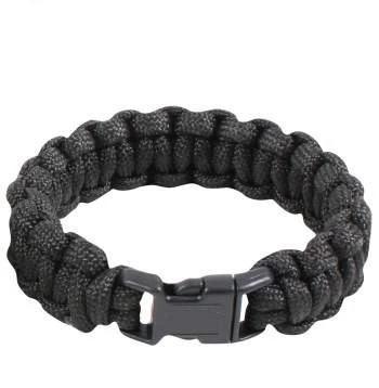 Black Paracord Survival Bracelet - Terra5.0
