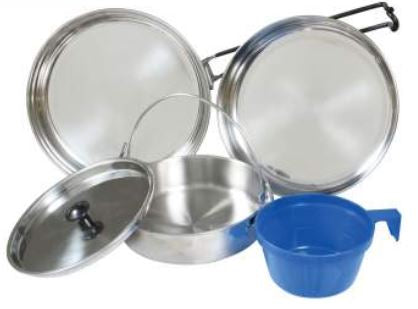 5 Piece Stainless Steel Mess Kit - Terra5.0