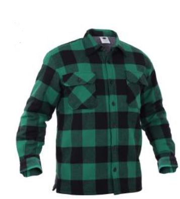 Extra Heavyweight Buffalo Plaid Sherpa-lined Flannel Shirts - Terra5.0