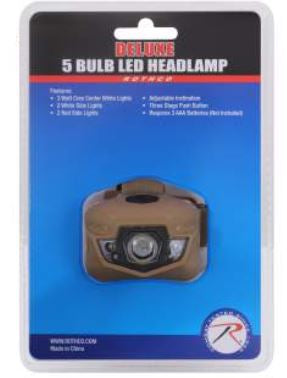 5 Bulb LED Headlamp - Terra5.0